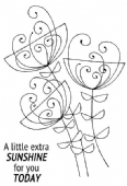 Woodware - Bold Blooms Ginny - Clear Magic Stamp Set- JGS594
